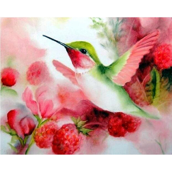 Diy 5d Diamond Painting Flying Hummingbirds Full Square/Round  Embroidery Home Decor Paste Mosaic Canvas diamond Painting H310