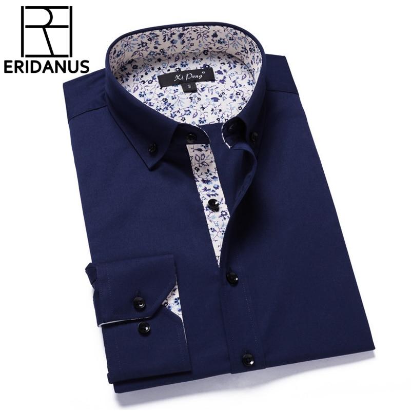 2017 Nueva Llegada de Moda de Los Hombres Camisa de Vestir de - Ropa de hombre