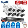 SANNCE 8 Channels CCTV Security System 8CH HD 1080N DVR 8PCS 1280*720P IR outdoor Cameras 1.0MP Video Surveillance Kit 1TB HDD