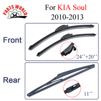 Combo Silicone Rubber Front And Rear Wiper Blades For KIA Soul 2010 2013 Windscreen Wipers Car