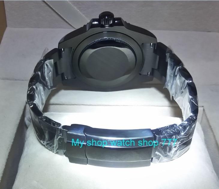 f18ba033874 Cristal de safira 40mm PANRIS caso PVD Da Ásia movimento Automático Auto  Vento One way rotating bezel GMT luminosa relógio dos homens 405A em  Relógios ...