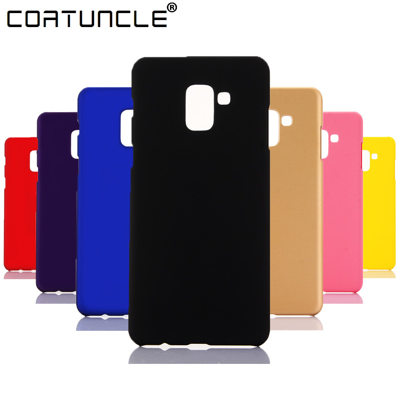 Phone <font><b>Case</b></font> For Fundas <font><b>Samsung</b></font> <font><b>Galaxy</b></font> <font><b>A8</b></font> <font><b>2018</b></font> <font><b>Case</b></font> 360 Hard plastic PC Candy Color Back Cover For Coque <font><b>Samsung</b></font> <font><b>A8</b></font> Plus <font><b>2018</b></font> <font><b>Case</b></font> image