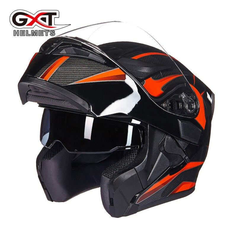 Genuine GXT Winter Flip up Motorcycle Helmets Dual Lens High Quality Motor bike Scooter Winter Summer