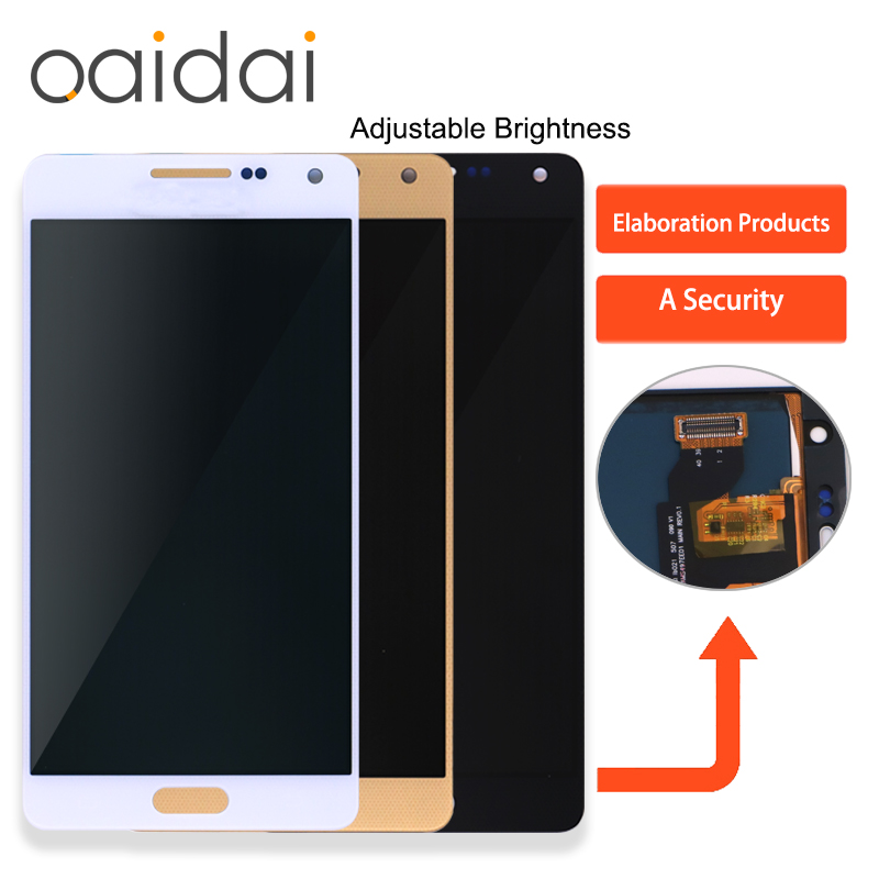 Adjustable Brightness LCD Display Touch Screen For Samsung Galaxy A5 2015 A500 A500F A500FU A500M Mobile Phone LCD Display Parts