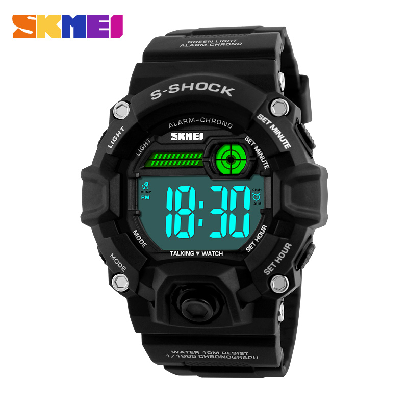 1162 Blind Talking Time Digital Wristwatches Men Electronic LED Sports Watches Alarm Clock Military Fashion Casual Watch SKMEI1162 Blind Talking Time Digital Wristwatches Men Electronic LED Sports Watches Alarm Clock Military Fashion Casual Watch SKMEI
