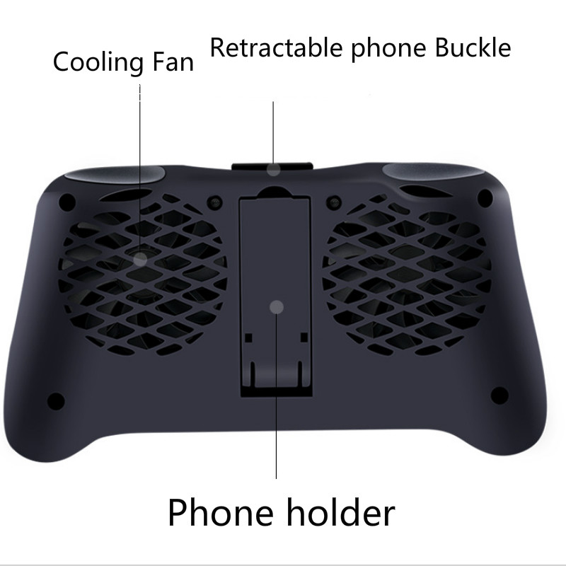 Image 4 - Gamepad Game Holder Stand Cooling Controller Support Charging with 2000mAh Portable Radiator Mute Fan Heatsink for andriod IOS-in Mobile Phone Coolers from Cellphones & Telecommunications