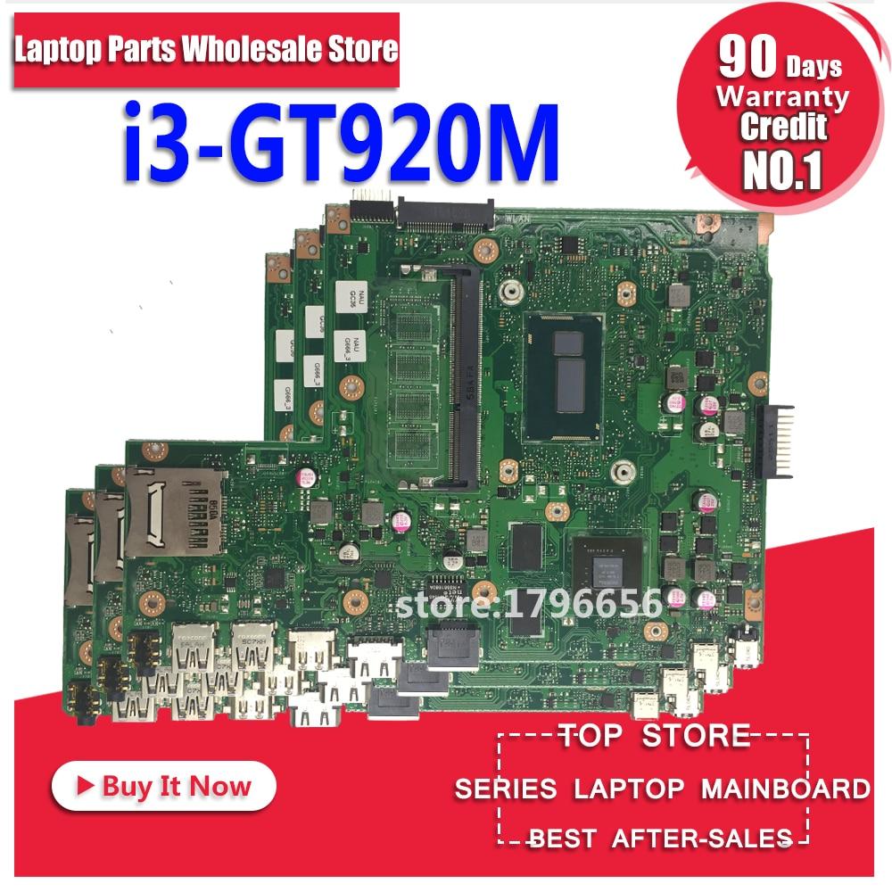 купить X540LJ MB._I3-4005U/AS GT920M 90NB0B10-R00040 motherboard For Asus X540L X540LJ F540L Laptop motherboard Mainboard онлайн