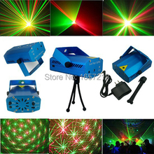 New Portable multi led Projector DJ Disco Light music Stage lights Xmas Party wedding club show Laser Lighting projector Blue