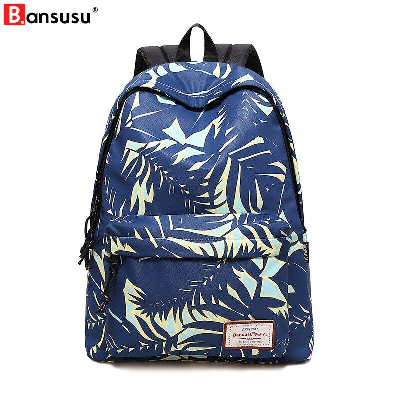 2018 Для женщин ноутбук рюкзак для девочек-подростков школьный рюкзак мешок печати женские рюкзаки Колледж элегантный дизайн новый туристич...