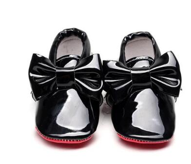 HONGTEYA Red sole Sequins PU Leather Baby Moccasins big bow Newborn first girls walker Infant Crib bebe Shoes 0-1T hot sale