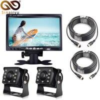 1280*960P 7 IPS Screen AHD Car CCTV Monitor With 2 Channels Starlight Night Vision Reverse Backup Rear View AHD Camera