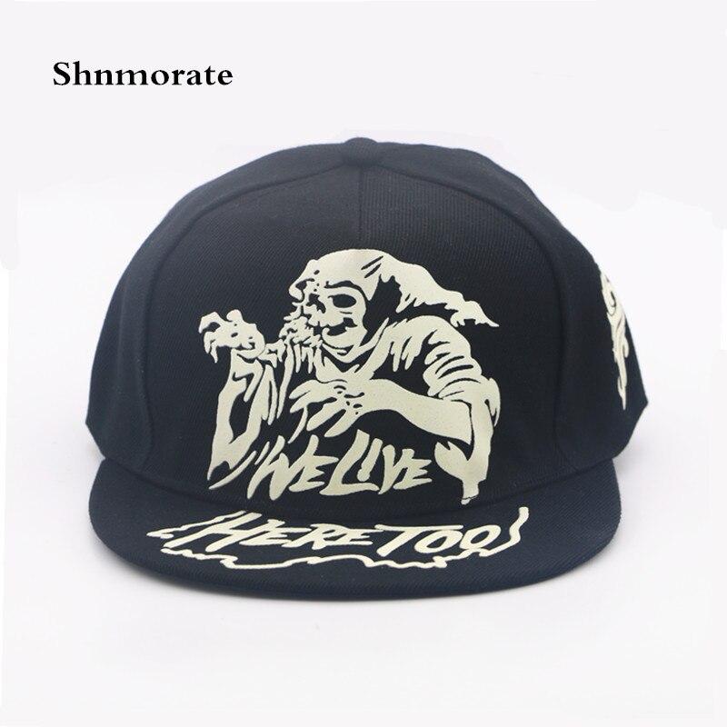 Noctilucent Ghost ajustable Casual gorra de béisbol hombres y mujeres  Snapback Casquette Unisex deporte sombrero Gorras a6c705da3a9
