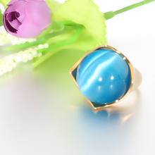 Sky blue Luxury Big Opal Ring New Arrival Style for Women Girl Constant Love Vintage Rings Fashion Anniversary Jewelry Gift