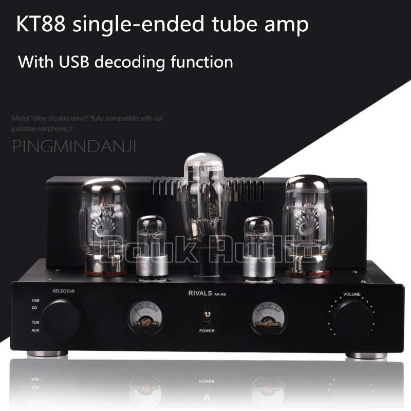 Douk Audio Latest KT88 Single-ended Class A Tube Amplifier With USB decoding Upgrading of Computer Sound Card Sound quality douk audio latest appj assembled fu32 single ended class a tube amplifier audio power amp board hifi diyer free shipping