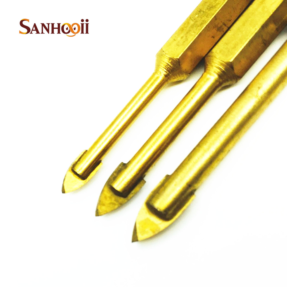 Titanium coated ceramic tile holes drill bit 635mm hex shank titanium coated ceramic tile holes drill bit 635mm hex shank glass hole cutter 45681012mm hole drilling tool set in drill bits from tools on dailygadgetfo Images