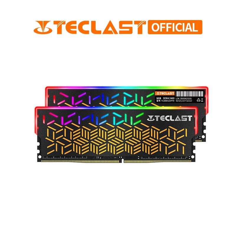 Mémoire Teclast RGB P70 DDR4 8 GB 2400 Mhz 3000 MHz 1.2 V mémoire ram de bureau