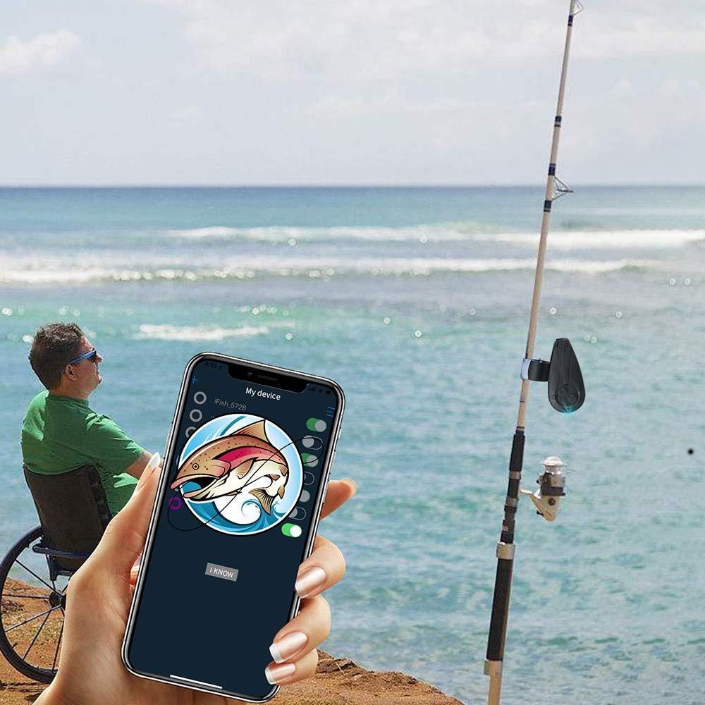 alarme móvel da isca dos peixes do aplicativo de bluetooth