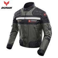 DUHAN Men's Motorbike Moto Jacket Windproof Motorcycle Jacket Protector Cold-proof Motorcycle Protective Gear Motocross Jacket
