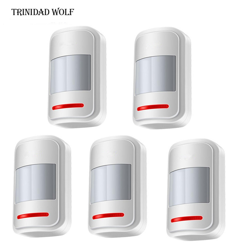5pcs Wireless PIR motion sensor detector for touch keypad panel GSM PSTN home house security Burglar voice alarm system