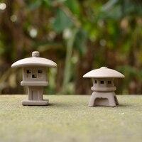Пасторальный Micro пейзажи украшения сада каменный дом миниатюрные украшения Смола бонсай сказочные украшения сада милый мини-дом