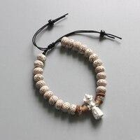 Eastisan Tibetan Buddhist Handmade Xinyue Mala Beads Bracelets OM Healing Jewelry Buddhism Amulet Charm Bracelets Dropshipping