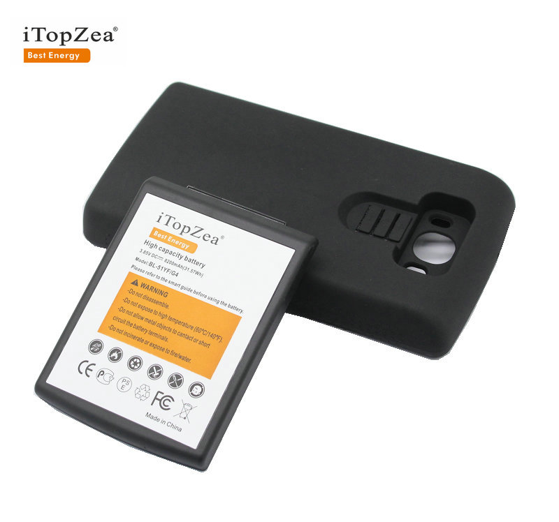 Itopzea Extended-Battery 1x8200mah With TPU Case For LG G4 H818/Vs999/Vs986/.. BL-51YF