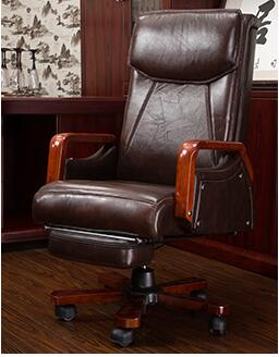 Simple Office Chair Staff Chair Boss Chair Genuine Leather Computer Chair Family Chair Can Lie On Cowhide Front Chair.