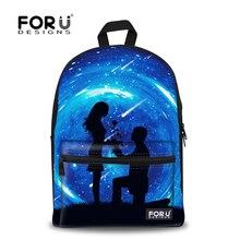 Korean Style Children Galaxy School Backpacks Vintage Canvas Printing Backpack for Woman Teenage Girls Bag Pack Retail