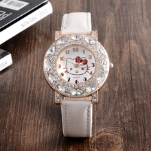 Cartoon Watch New Arrival Lovely Girls Hello Kitty Women Watch Children christmas Fashion