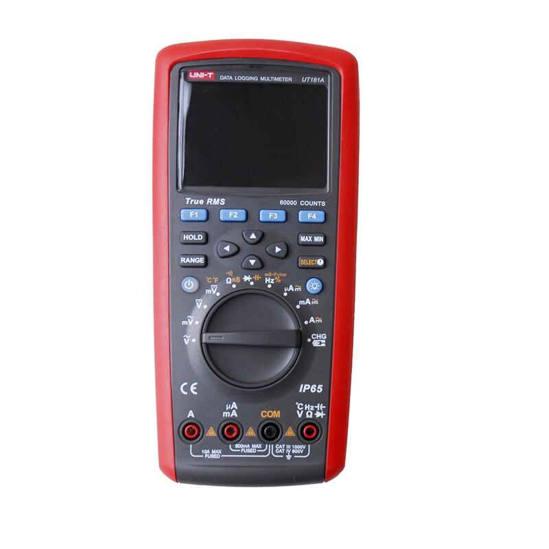 UNI-T UT181A Vrai RMS Datalogging Numérique Multimètres DMM Capacité Température Compteur w/Rechargeable Li-Batterie