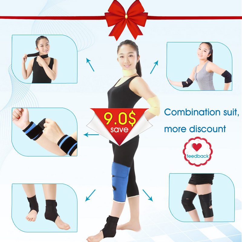 Factory Price CE FDA Support OEM Wholesale Retail Braces & Supports Set Health Care And Relieve Pain Tourmaline Magnetic 9 pcs dmt10768t080
