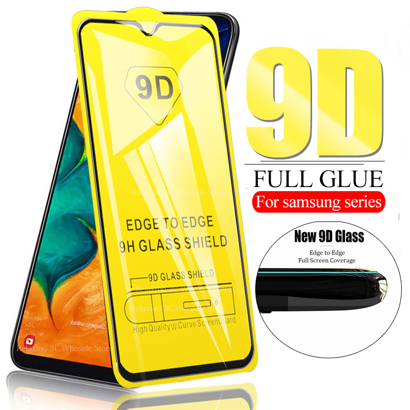 9D Full Curved For Samsung A10 A20 A30 A40 A50 A70 Protective Glass On The For Galaxy A 10 20 30 40 50 70 Tempered Glas 9H Film