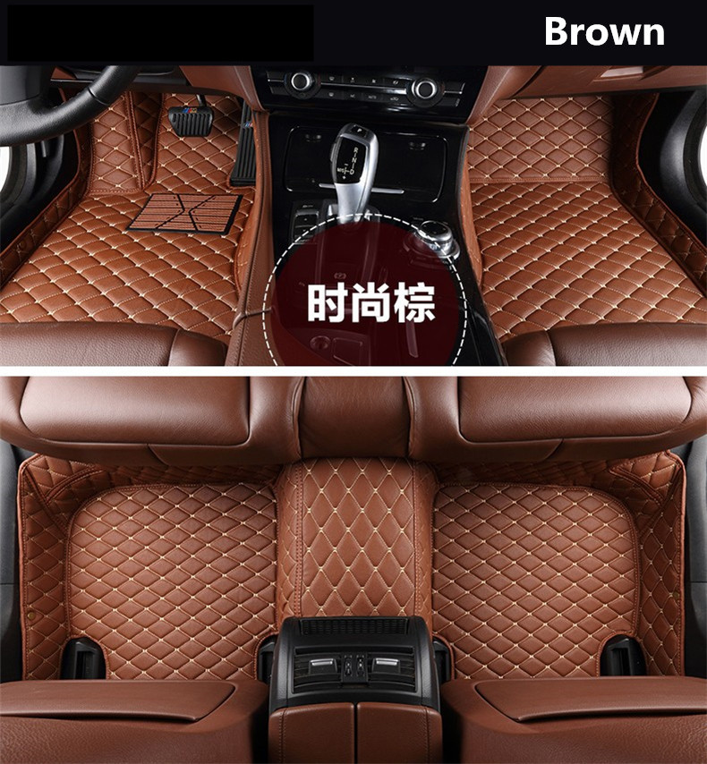 For Hyundai Solaris 2017.2018 Floor Mats Auto Foot Carpets Car Step Mats High Quality Brand New Embroidery Leather Mats auto floor mats for honda cr v crv 2007 2011 foot carpets step mat high quality brand new embroidery leather mats