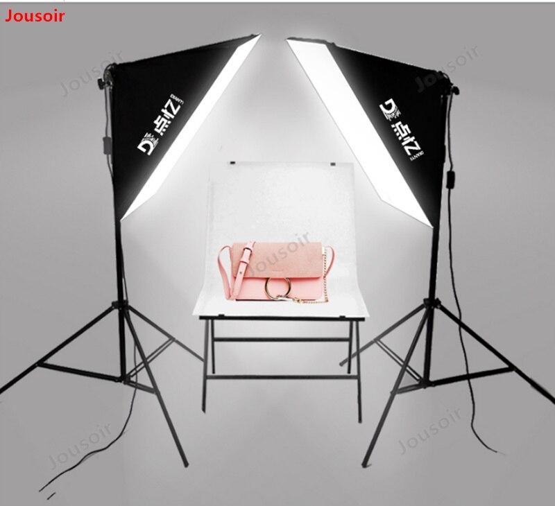 45 watt led kleine leven tafel dubbele lamp set Eenvoudige studio vulling licht foto schieten zacht Licht Doos CD50 T03