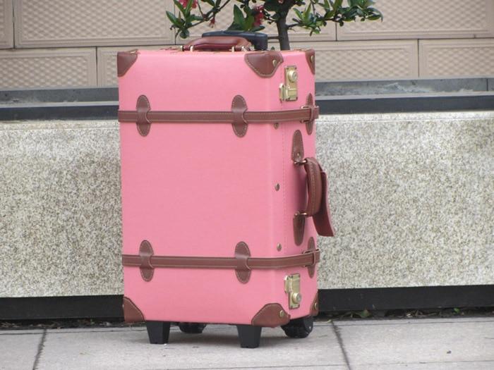 """Ретро универсални колела количка за багаж, истинска кожа чанта багаж, 18 """", 20"""", 22 """", 24"""", 28 """", 30"""" високо качество чанта"""