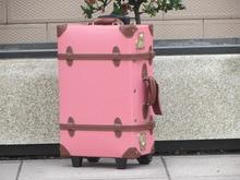 Индивидуальные! винтаж Универсальный колеса багаж, натуральная кожа Дорожная сумка дорожная сумка, 18 «, 20», 22 «, 24 «, 28», 30 «высокого качества сумка