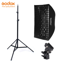 купить Godox 60x90cm honeycomb Grid Umbrella Softbox bracket Light Stand kit Strobe Studio Flash Speedlight Photography дешево