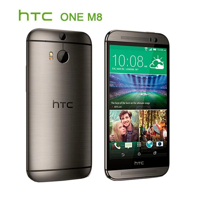 "Refurbished Original HTC ONE M8 Unlocked Cell Phone 5.0"" Screen Quad-Core 2GB RAM 32GB/16GB ROM Dual Back Cameras 5"