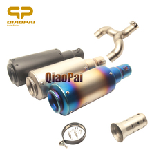 Refit Motorcycle Exhaust System Link Pipe Escape Muffler 51 Mid Tube for Benelli 600 BN600 BJ600 Benelli600 Full