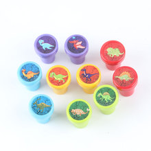 10pcs/Set Children Toy Stamps Cartoon Animals Fruits Kids Seal For Scrapbooking Stamper DIY cartoon stamper Toys(China)