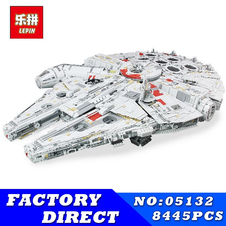 LEPIN 05132 8445pcs Star Series Wars Kits Ultimate Collector's Model Destroyer Building Blocks Bricks Children Toys Gifts 75192 2018 dhl lepin star series war 05007 05033 05132 building blocks bricks model toys compatible 75105 10179 75192 gifts