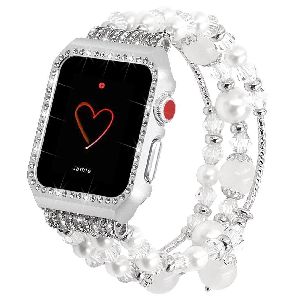 Perles et Cristaux Bracelet Apple Watch Femme