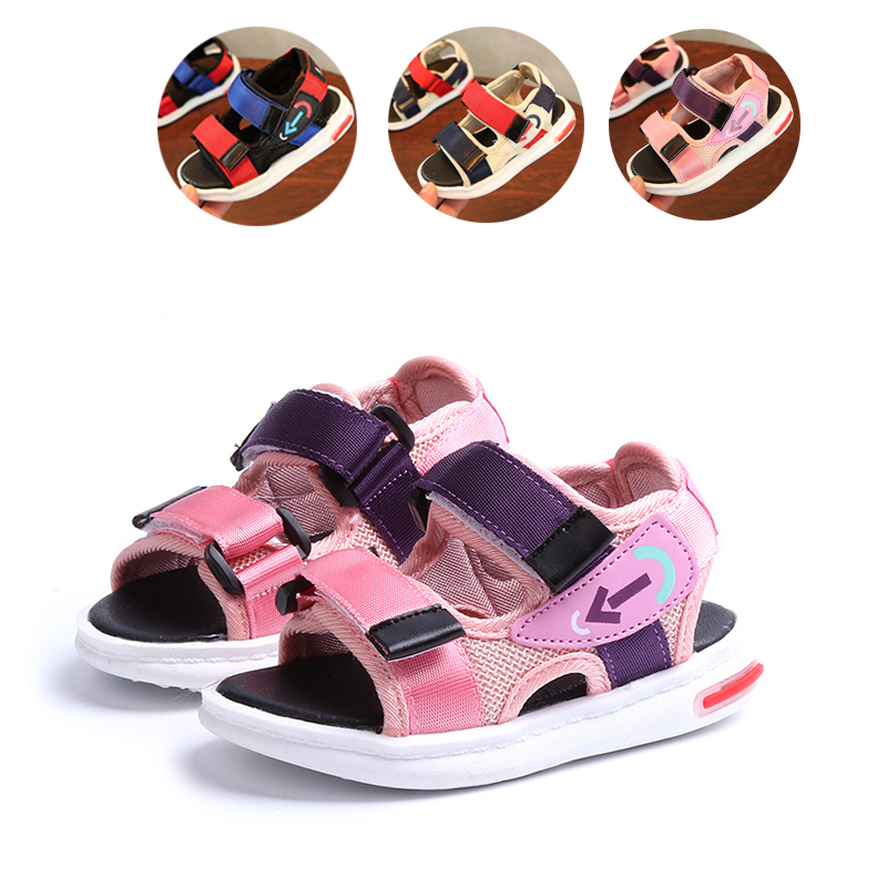 Bavoirsj Hook Colorblock Baby Boys Sports Shoes For Outdoor Soft Sole Summer Sneaker Shoes Sandals Casual Shoes B1942