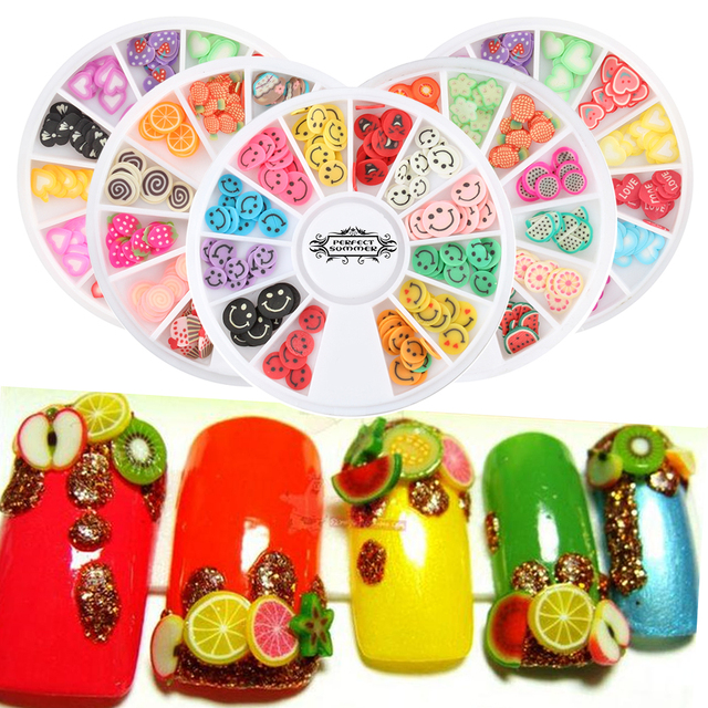 Candy Lover DIY Nail Art wheel Decorations Fruit Slices 3D Polymer ...
