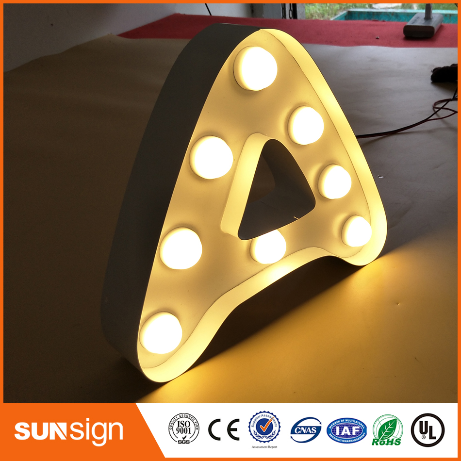 Outdoor Stainless Steel LED 3d Letter Sign Logo,Frontlit Stainless Steel Acrylic Lighting Up 3d Led Letter Sign