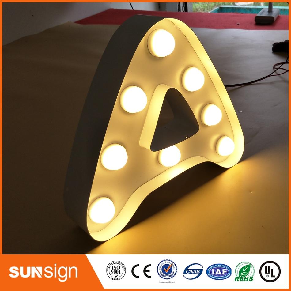 ᑐOutdoor stainless steel LED 3d letter sign logo,Frontlit stainless ...