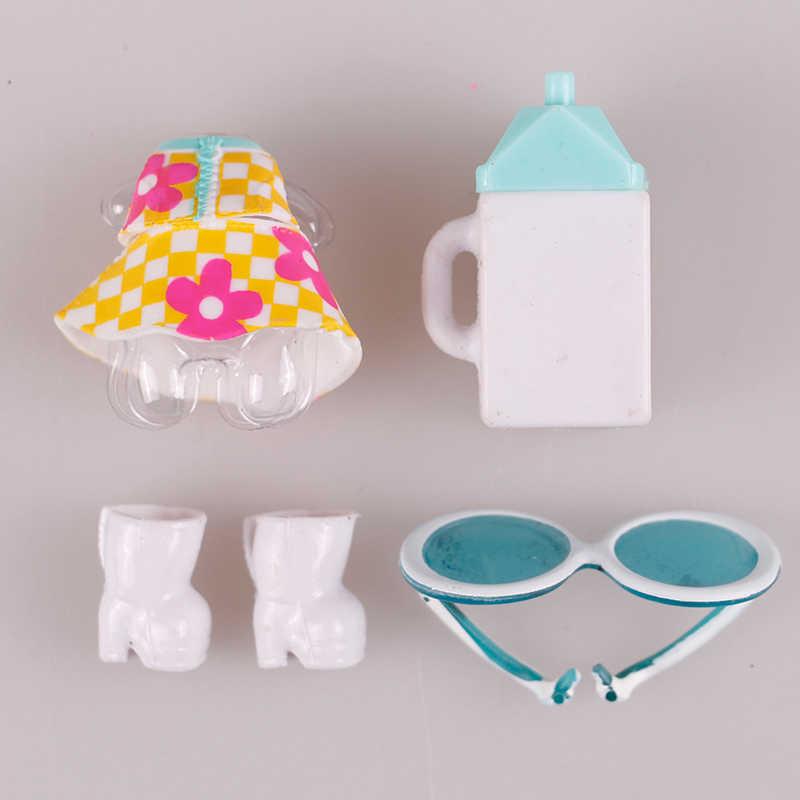 1 комплект, кукла LOL, одежда, очки, бутылка, обувь, аксессуары, оригинальная коллекция кукол lol