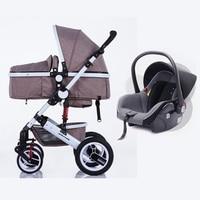 Zhilemei Олей коляска высокого пейзаж может сидеть или лежать шок зимняя одежда для малышей коляска Бесплатная с Автокресло доставкой по Росси
