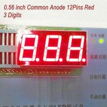 (10 шт./лот) СВЕТОДИОДНЫЙ Дисплей 0.56 Дюймов 12 Pins 3 Цифры 7 Сегмент Красный СВЕТОДИОД Дисплей Поделиться Общий Анод Цифровой Дисплей 5631BR