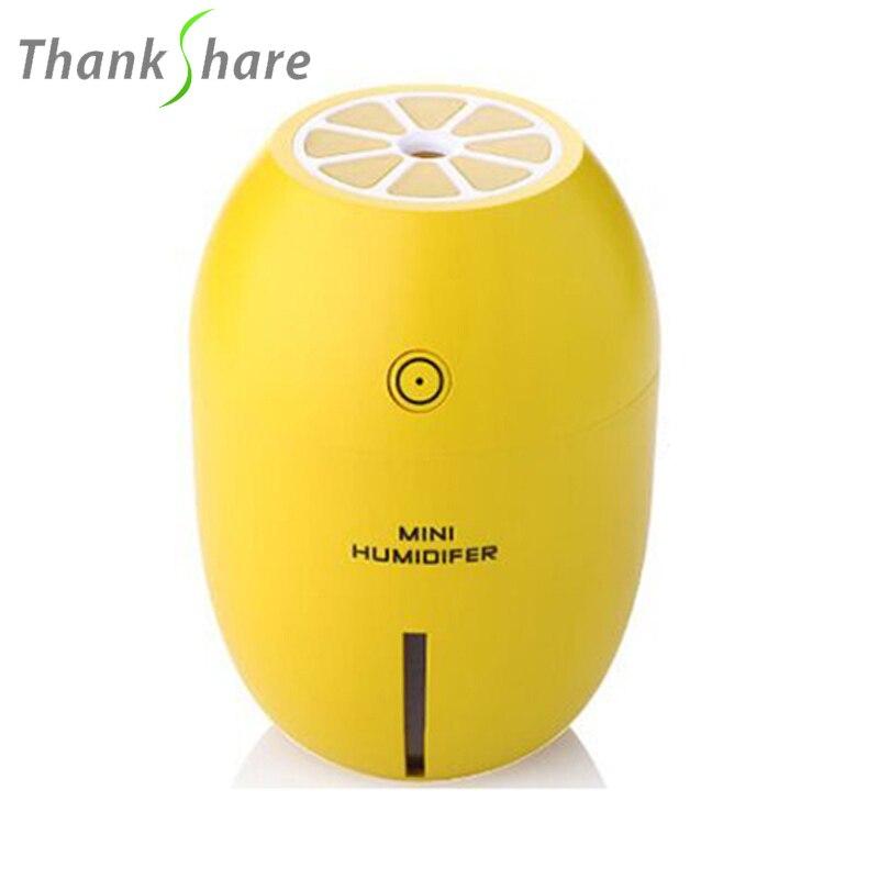 Portatile Mini Umidificatore per La Casa 4 Colori USB Limone Aromaterapia per Auto Olio Essenziale Aroma Diffusore Umidificador Diffusa Para